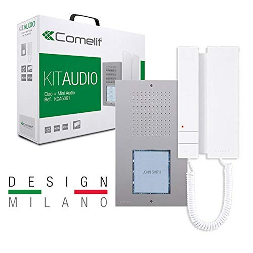 COMELIT Kit Citofono Monofamiliare Espandibile 4 Bussate Completo 5 Fili Kca5061