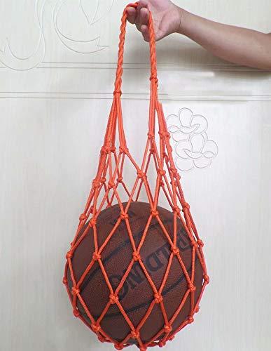 SANDIN Fußball Verbesserte Hochleistungs-Sportball-Tragetasche Fußball für Basketball 1-teilige Mesh-Balltasche Rugby Volleyball Multifunktionale Mesh-Aufbewahrungstragertasche Orange