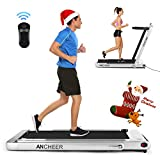 ANCHEER Folding Treadmill, Under Desk Smart Electric Treadmill with Remote Control and...