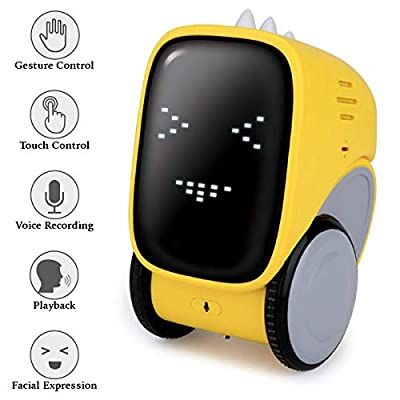 Jainaagam Smart Robot Toy Mini Interactive Gesture Touch Voice Control Robot For Kids Educational Stem Learning Music Singing Walking Talking Dancing Robot Gift For Toddler Age 3-8 Year Old Boys Girls