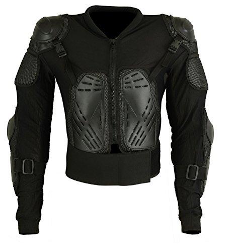 Motorrad Schutz Jacke, Pro Motocross, Protektoren Jacke mit Rückenprotektor, Scooter Enduro für Kinder (XXS)
