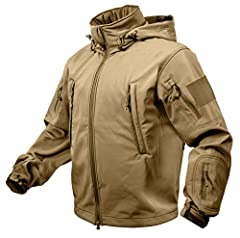 Versatile Soft Shell Tactical Jacket With Waterproof Polyester Outer Shell 3-Layer Construction Deflects Wind, Wicks Away Moisture, And Retains Heat 6+ Versatile Zippered Pockets For Storing Essential Gear Fleece Lined Stand-Up Collar With Concealed ...
