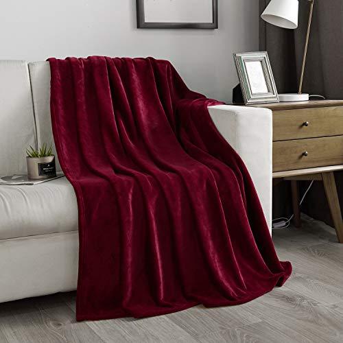 NC Manta de forro polar de franela, suave y cálida, manta de felpa, mantas ligeras de microfibra para cama, sofá, silla o sala de...