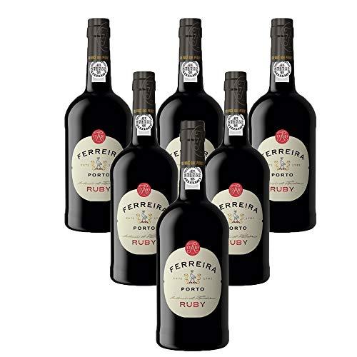 Vino de Oporto Ferreira Ruby - Vino Fortificado- 6 Botellas