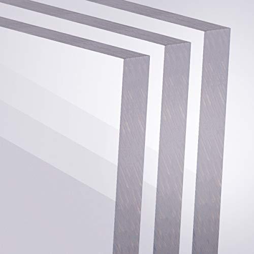 Acrylglas 2-10mm GS PMMA Transparent Glasklar Zuschnitt Scheibe Materialstärke und Größe Wählbar (10 mm, 200 x 200 mm)