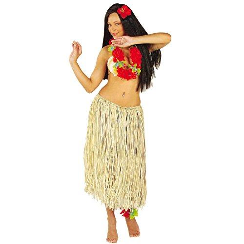 NET TOYS Hawaïï Jupe en Rafia Hula Jupe Beige 78 cm Aloha Rafia Jupe Caraïbes Jupe Hula Jupe Hawaïïenne