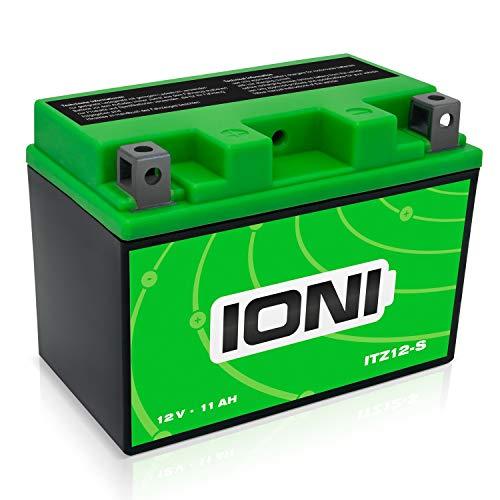 IONI ITZ12S 12V 11Ah AGM Batterie kompatibel mit YTZ12S / YTZ14S versiegelt/wartungsfrei Akkumulator Motorrad Motorradbatterie