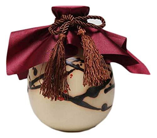 DWhui 2 unids Sake Botella Vino pote Sake Conjunto Flagon cerámico Botella de Vino Creativo Vino Frasco Frasco de Vino