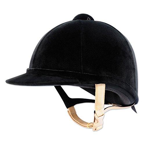 Charles Owen Hampton Velvet Hat 61cm Black Flesh