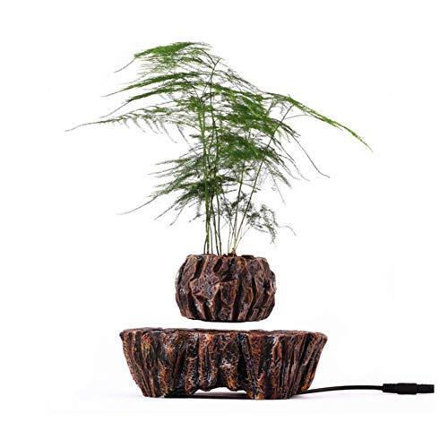 Pot de bonsaï à lévitation magnétique,Jardinière flottante pour cadeaux créatifs, décoration, bureau, pot de suspension magique (sans plantes)