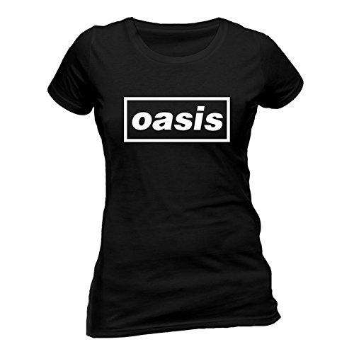 Ladies Oasis Logo Liam Noel Gallagher Rock Oficial Camiseta Mujeres señoras