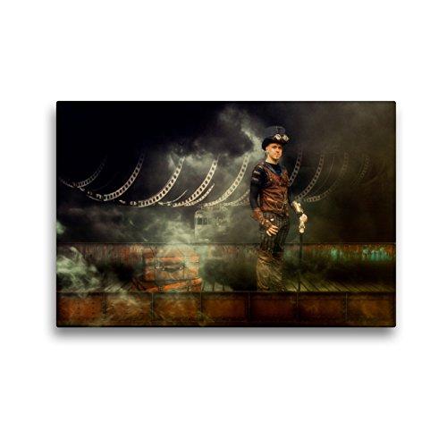 CALVENDO Premium Textil-Leinwand 45 x 30 cm Quer-Format Der Aeronaut, Leinwanddruck von Dirk Meutzner