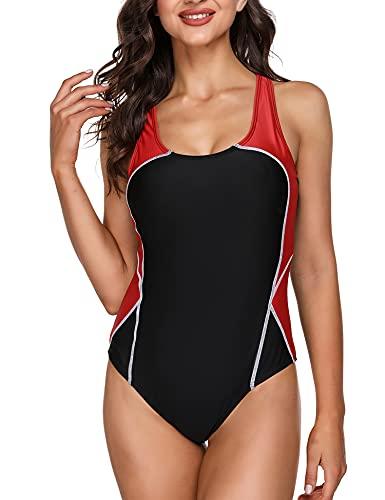 Sykooria Bañador Mujer Trajes de baño de Una Pieza para Mujer Ropa de Baño Cintura Alta Size Ropa De Playa BañAdor Deportivo Verano Tallas Grandes