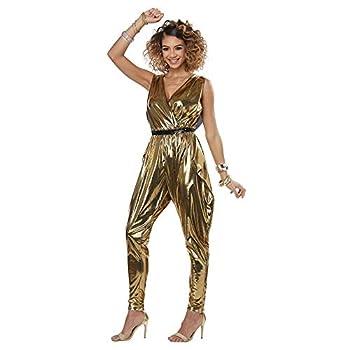 California Costumes Women s 70'S Glitz N Glamour - Adult Costume Adult Costume -Gold Medium