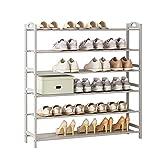 MQH Zapateros Zapatos multifuncionales Rack Pielo Libre Estante de Zapatos Almacenamiento Organizador Zapatos de Entrada El gabinete Tiene 20-24 Pares de Zapatos Zapatos (Color : 6 Layers)