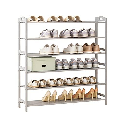 LYLY Zapatero Zapatos multifuncionales Rack Pielo Libre Estante de Zapatos Almacenamiento Organizador Zapatos de Entrada El gabinete Tiene 20-24 Pares de Zapatos Estante de Zapatos (Color : 6 Layers)