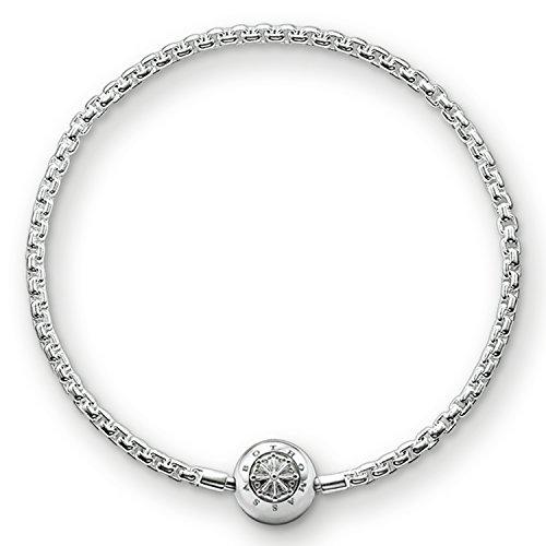 Thomas Sabo Damen Herren-Armband Karma Beads 925 Sterling Silber Länge 23 cm KA0001-001-12-L24
