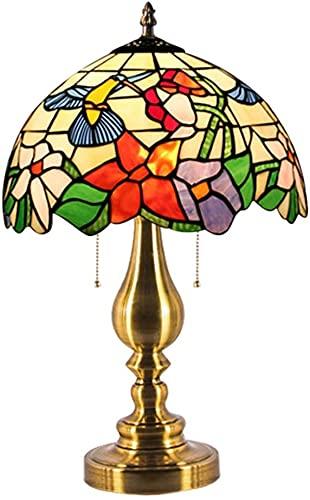 HAO KEAI Lámparas de Mesa Lámparas de Mesa, Colibri Modelo Elegante lámpara de Noche lámpara de Noche lámpara de Cama Lámpara de Oficina Base en Art Deco Iron Art (Color : B Style)