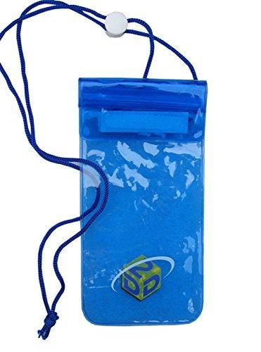 D2D wasserdichte Tasche für Mobiltelefone und iPod-Kameras, Blau Gr. 12 * 25 cm, blau