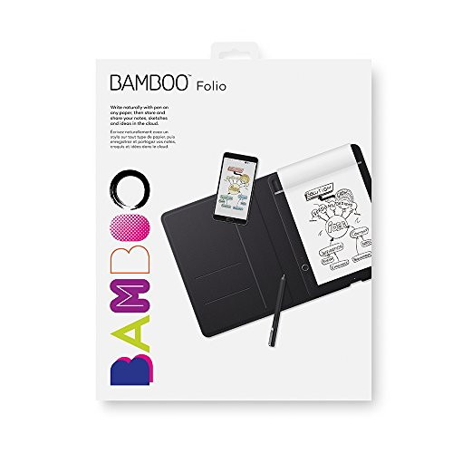 Wacom Bamboo Folio Smartpad Digital Notebook, Small (A5/Half Letter Size), CDS610G