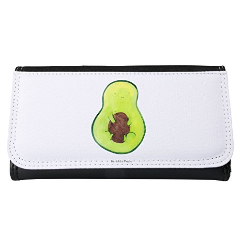 Mr. & Mrs. Panda Portemonnaies, Portemonee, Damen Portemonnaie Avocado mit Kern - Farbe Weiß