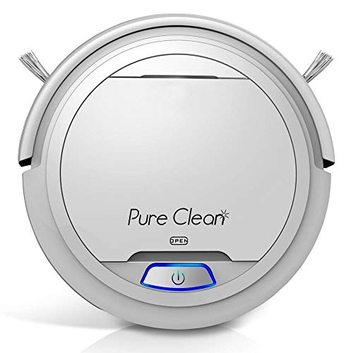 New Pure Clean Robot Vacuum Cleaner - Upgraded Lithium Battery 90 Min Run Time - Automatic Bot Self ...