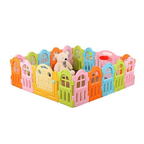 LIUFS-Laufställe Spiel Zaun Krabbeln Lernen Gehen Leitplanke Schutzzaun Spielzeug 3 Jahre Altes Geschenk (Farbe : 16+2+4 Fence)