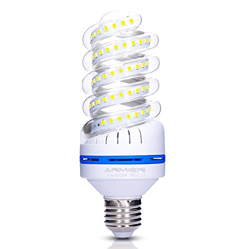 Bombillas LED E27 de 16 W equivalen a una bombilla de 120 W, bombilla diurna de bajo consumo, luz LED de 6000 K, no regulable, bombilla de maíz, paquete de 1
