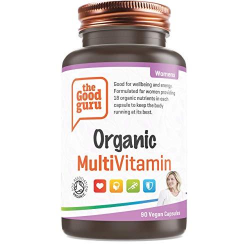 The Good Guru - Organic Multivitamin for Women, Vegan Multivitamin Tablets - Multivitamin Capsules for Women with 18 Essential Active Vitamins & Minerals - (90 Capsules)