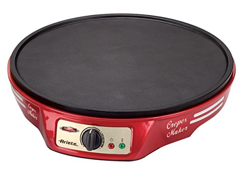 Ariete 183 CREPERA Party Time, 1000 W, Negro, Rojo