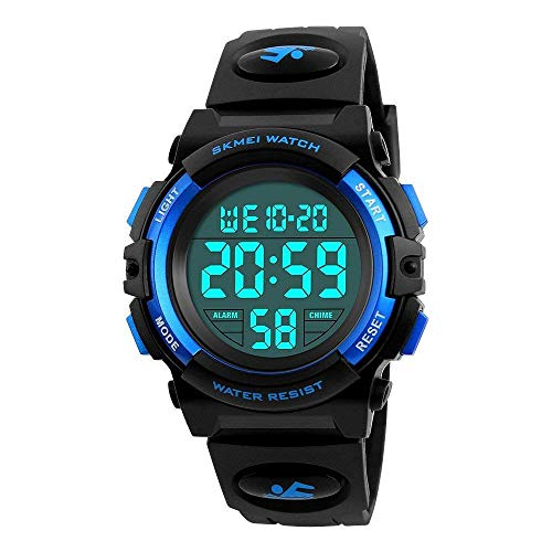 Outdoor Toys for 6-15 Year Old Boys, HODO Kids Digital Wrist Analog Watch popular Toys Gifts for 6-15 Year Old Boys Girls Birthday Gifts Presents for Age 6-15 Year Old Girls Teen Boys Blue HDUSDW02