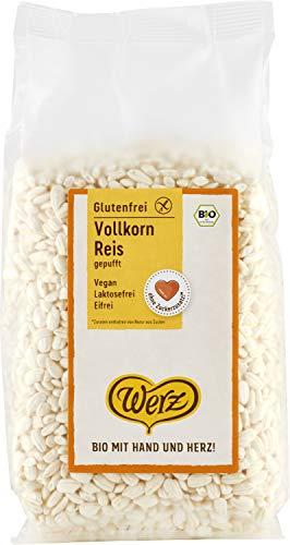Werz Vollkorn-Reis, gepufft, ungesüßt, glutenfrei, 5er pack (5 x 125g)
