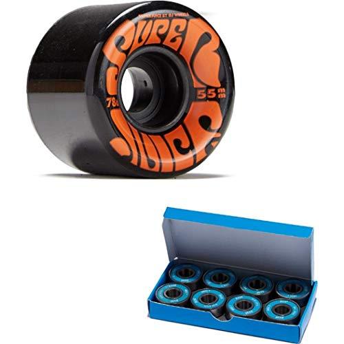 OJ III Skateboard Cruiser Wheels Mini Super Juice Black 55mm 78A with CCS ABEC 7 Bearings
