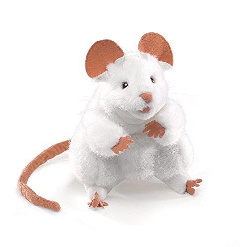 Folkmanis Mouse Hand Puppet, White