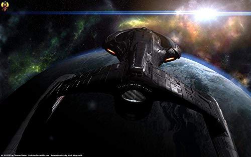 Colección Jigsaw Puzzle - Todo Color (1000 Piezas) Star Trek Black Squid Battleship - DIY Adultos Niños Crecidos Rompecabezas Juegos educativos para niños Adultos Regalos