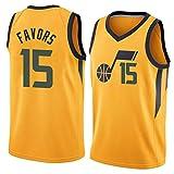 GPUI Jazz 15# favores 2020/2021 Temporada Hombre de Baloncesto para Hombres, Edición de la Ciudad Jersey, Camiseta Deportiva sin Mangas de Ocio Transpirable (S-2XL) Yellow-XXL