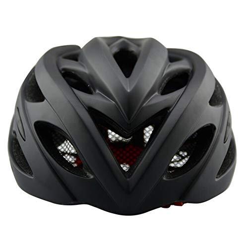 YMYGBH Bicicleta y Bicicletas Integrado Riding Casco Casco Ultraligero (Color : Carbon Black, Size : One Size)