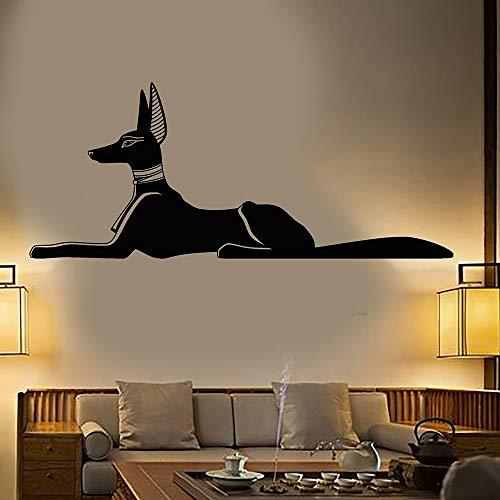 Ägyptischer Gott Anubis Altes Ägypten Monster Hund Tier Vinyl Wandaufkleber Schlafzimmer Home Decoration Abnehmbare Wandtattoos Kunst Wandplakat