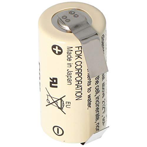 FDK (NEU) / Sanyo (ALT) CR17335-LFU / CR 17335 / CR17335 Lithium Batterie mit Lötfahne U-Form