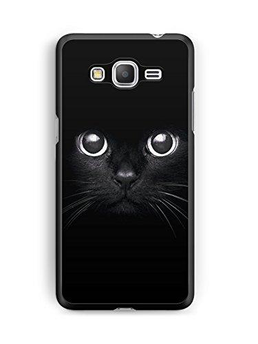 Coque Samsung Galaxy Grand Prime Chat Noir Case Black Cat Animal Swag REF12687