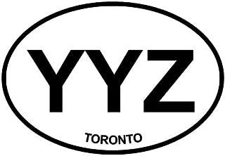 Toronto-YYZ Euro Oval Bumper Sticker