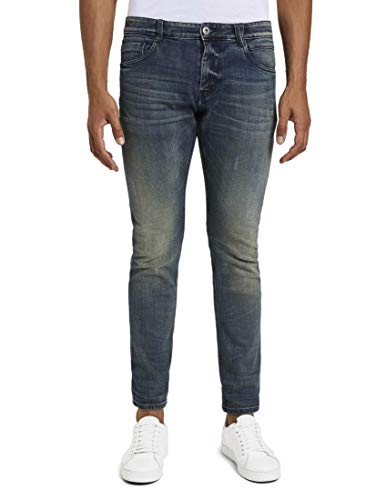 TOM TAILOR Herren Jeanshosen Josh Regular Slim Jeans mid Stone wash Denim,34/32