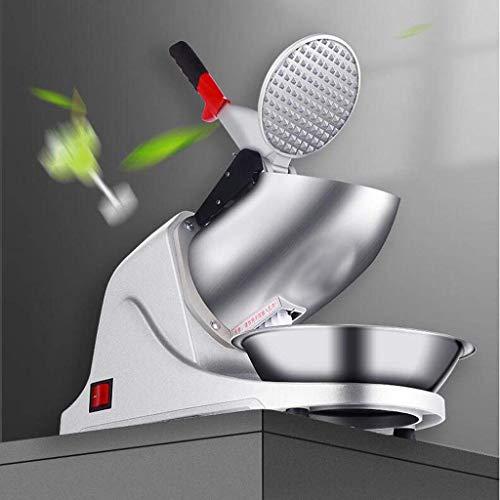 GBX Máquina para hacer bebidas de verano Máquina mezcladora-eléctrica Cuchilla trituradora de hielo de doble cuchillo, Máquina fabricadora de cono de nieve de acero inoxidable, 187 lbs/hr, 1500 R /
