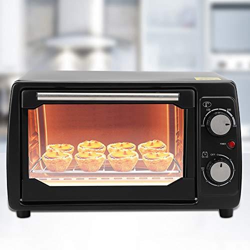 Four de Cuisson Électrique avec Minuterie, Four Multifonctionnel avec Plaque de Cuisson Mini Four à Pizza 220V 800 W 50 HZ pour Bureau Cuisine, Capacité de 10L(EU Plug)