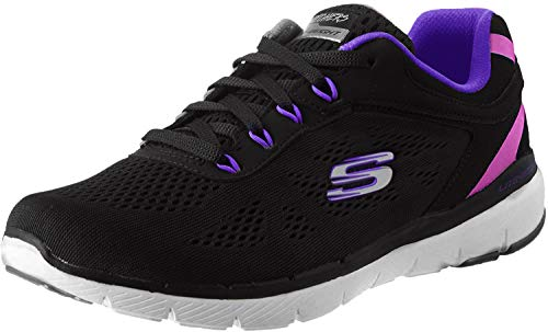 Skechers Flex Appeal 3.0 Steady Move, Zapatillas Mujer, Black, 40 EU