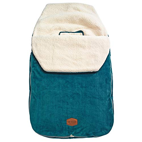 JJ Cole JJ Cole - Original Bundleme, Canopy Style Bunting Bag to Protect Baby from Cold & Winter Weather in Car Seats & Strollers, Teal, Toddler