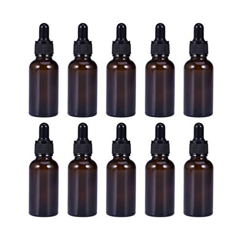Beaupretty 10 Stück 30 Ml Glas Ätherische Ölflaschen Glas Pipettenflaschen Leere Nachfüllbare Flüssigkeitsflaschen Kosmetikbehälter für Parfümproben Aromatherapie