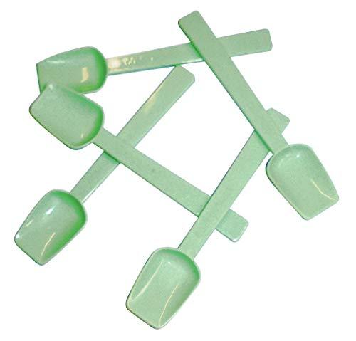 Lot de 500 palettes en PLA pour glace de 9,5 cm, vert, couvrantes, compostables et biodégradables, cuillère pour glaces et semi-froides.