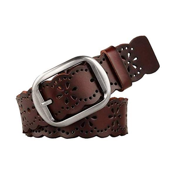 JASGOOD Women's Hollow Flower Leather Belt 1