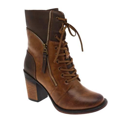 Pierre Dumas Women's Ravenna-10 Boot (10, Tan Combo)